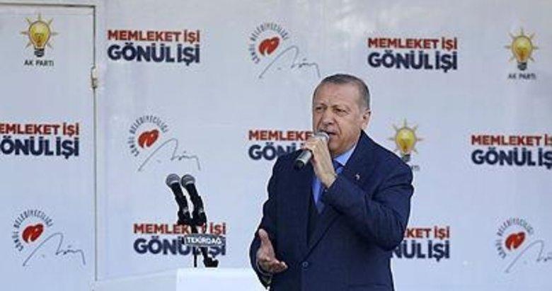 Başkan Erdoğan'dan Tekirdağ'da önemli açıklamalar