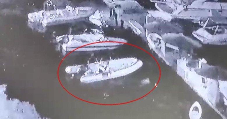 Bodrum'da çalınan sürat botu tesadüfen bulundu