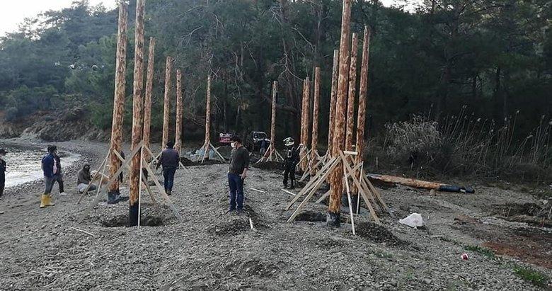 İnceburun Koyu'nda 'kaçak inşaat' çalışması yapanlara 63 bin TL ceza