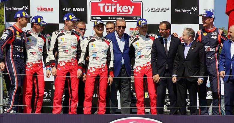 Başkan Erdoğan, Dünya Ralli Şampiyonasında ödülleri verdi