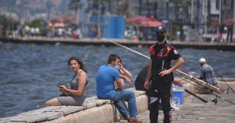 İzmir polisinden 'maske' denetimi!