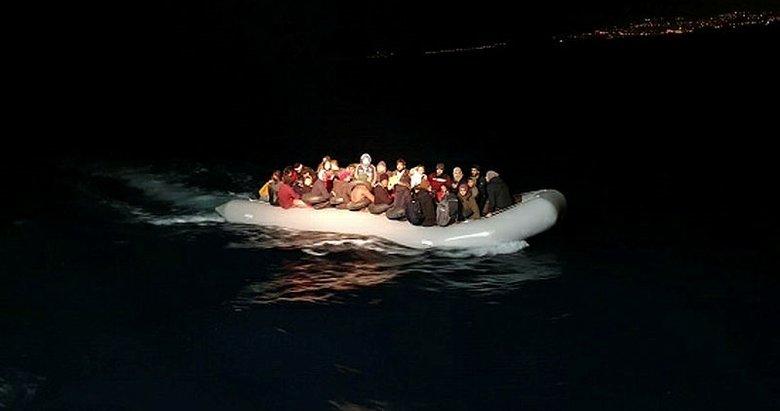 Aydın Kuşadası'nda 55 düzensiz göçmen yakalandı
