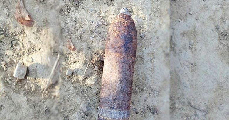 Uşak'ta Kurtuluş Savaşı'ndan kalma top mermisi bulundu