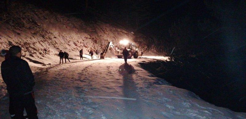 Muğla Köyceğiz'de kar nedeniyle 30 kişi mahsur kaldı, 2 kişi yaralandı