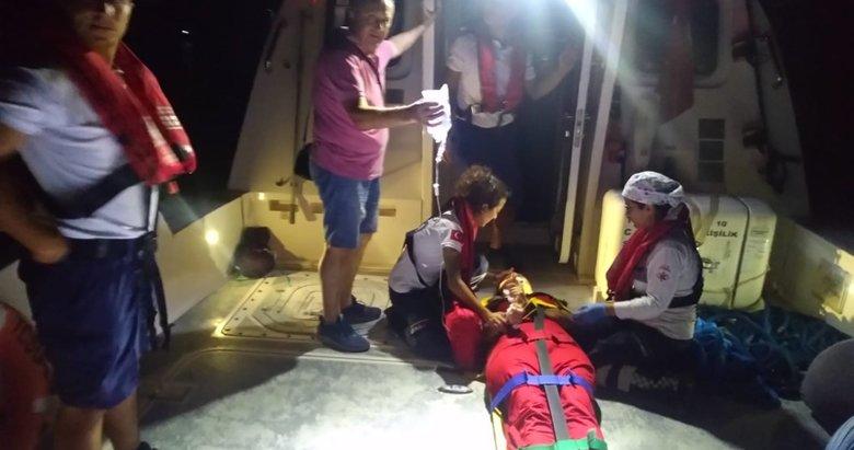 Muğla'da gezi teknesindeyken epilepsi nöbeti geçirdi