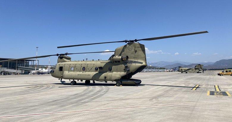 Muğla'da kritik görev! ABD yangın söndürme helikopterleri bölgede
