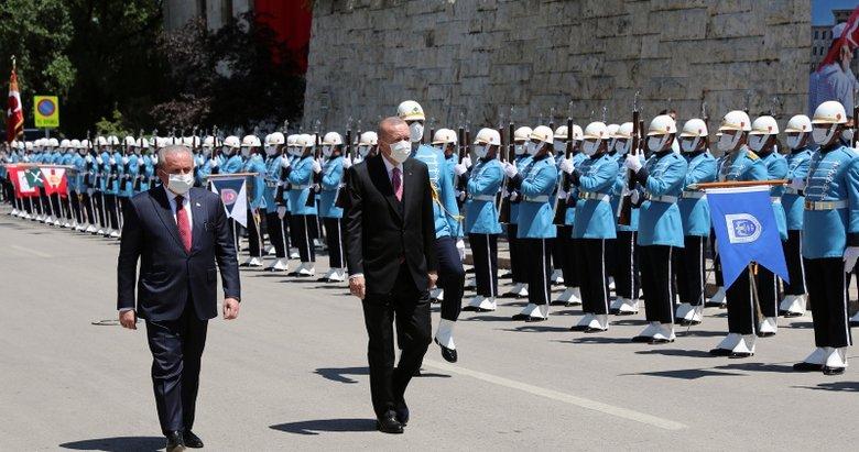 Son dakika: Başkan Erdoğan Gazi Meclis'te önemli açıklamalar
