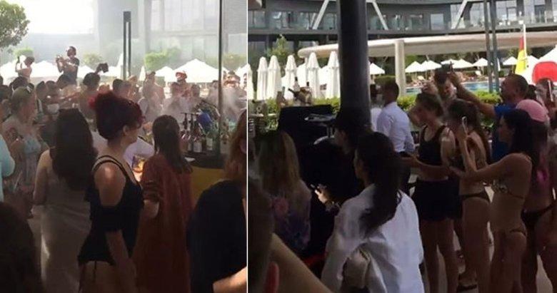 Yüzlerce kişinin mesafesiz partisi 'Güvenli Turizm Sertifikası'ndan etti