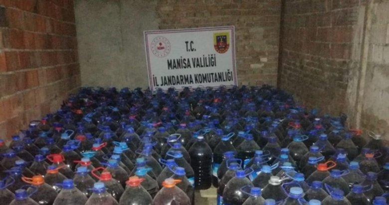 Manisa'da bağ evinde 3 bin 365 litre sahte içki ele geçirildi