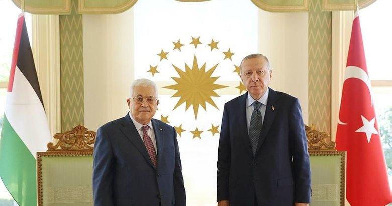 Başkan Erdoğan, Filistin Devlet Başkanı Mahmud Abbas ile görüştü