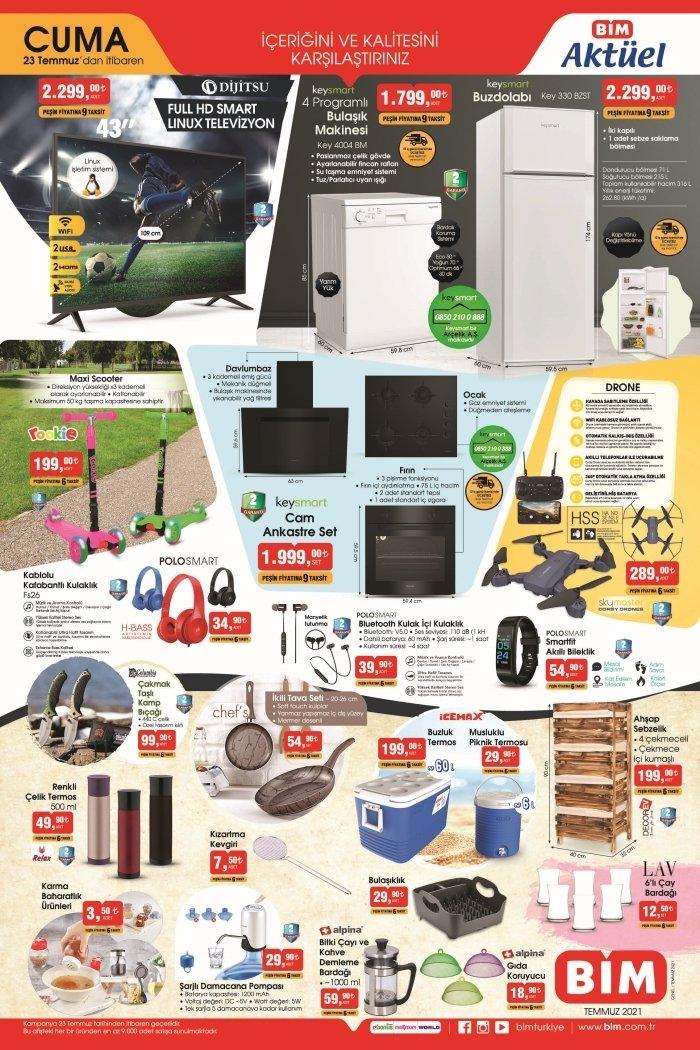 A101 BİM aktüel ürünler kataloğu 22-23 Temmuz