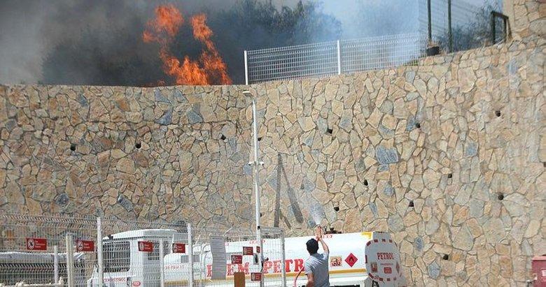 Bodrum'da panik yaratan yangın! Neredeyse akaryakıt istasyonuna sıçrıyordu