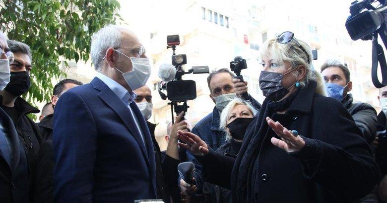 İzmir'de esnaftan Kılıçdaroğlu'na sel tepkisi