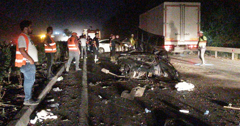 Manisa'da 4 kaza 3 ölü 5 yaralı