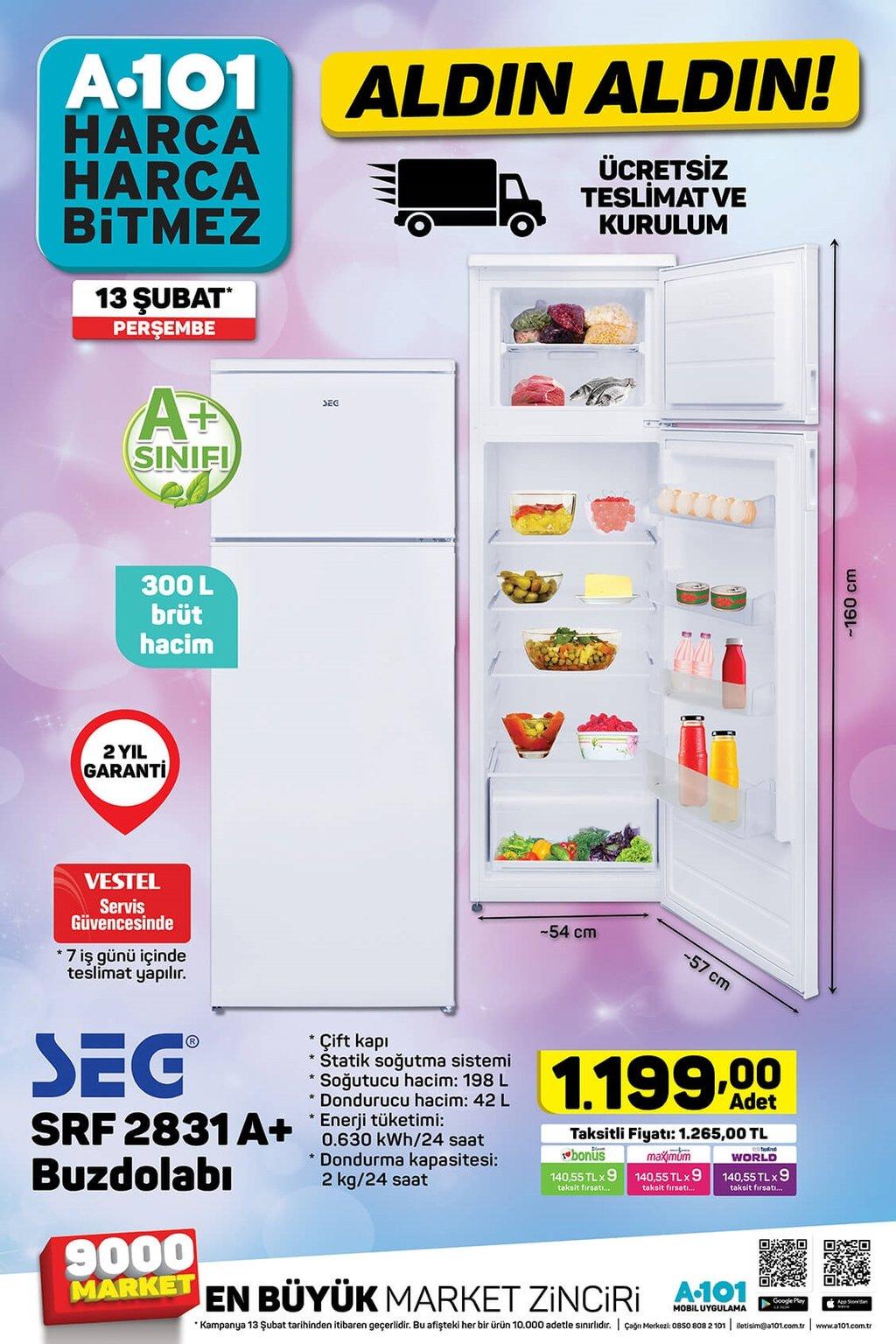 13 Şubat Perşembe A101 aktüel ürünler kataloğu!