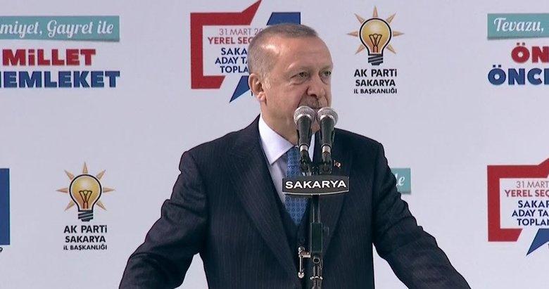 Başkan Erdoğan'dan Sakarya'da önemli mesajlar