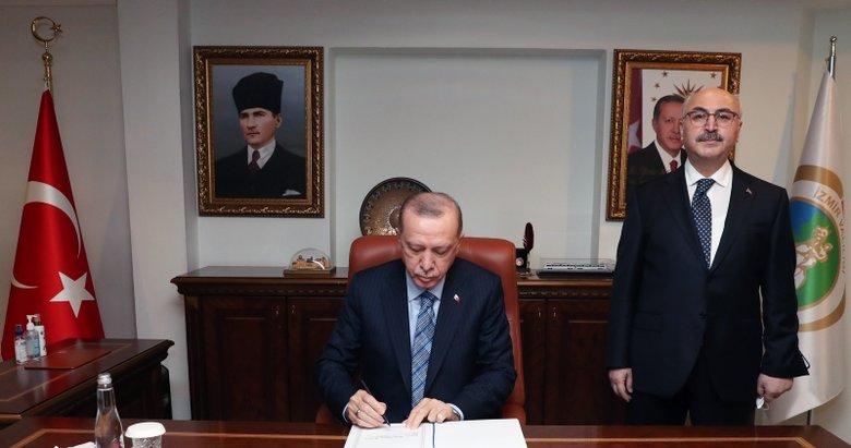 Başkan Erdoğan İzmir Valiliği'ni ziyaret etti