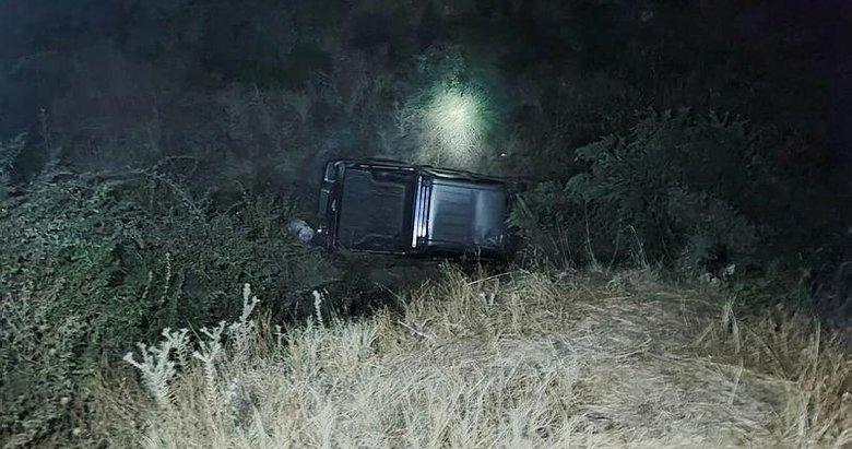 80 metrelik şarampole uçan pikabın sürücüsü hayatını kaybetti