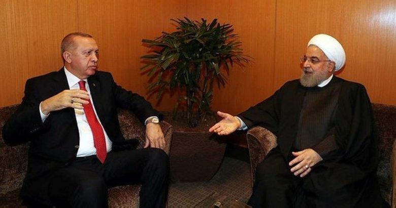 Başkan Erdoğan, İran Cumhurbaşkanı Ruhani ile bir araya geldi