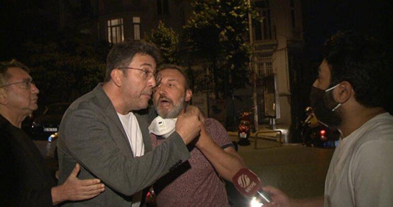 Cihangir sokaklarında rezillik! Emre Kınay gazetecilere saldırdı!