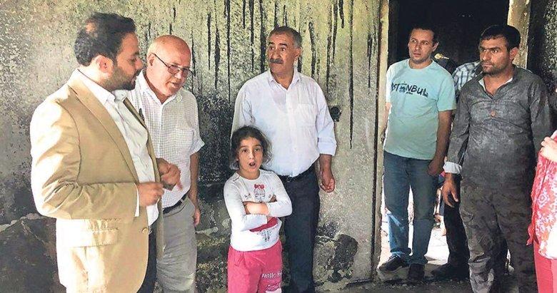 AK Parti'den evi yanan aileye yardım