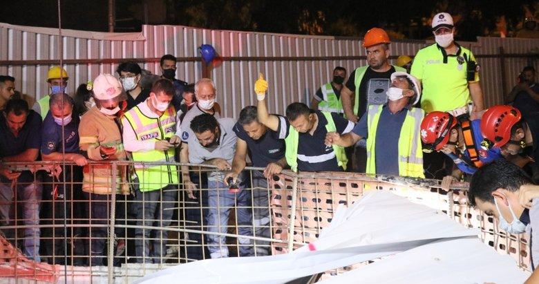 İzmir'de facia! Metro inşaatındaki 25 metrelik boşluğa düştü
