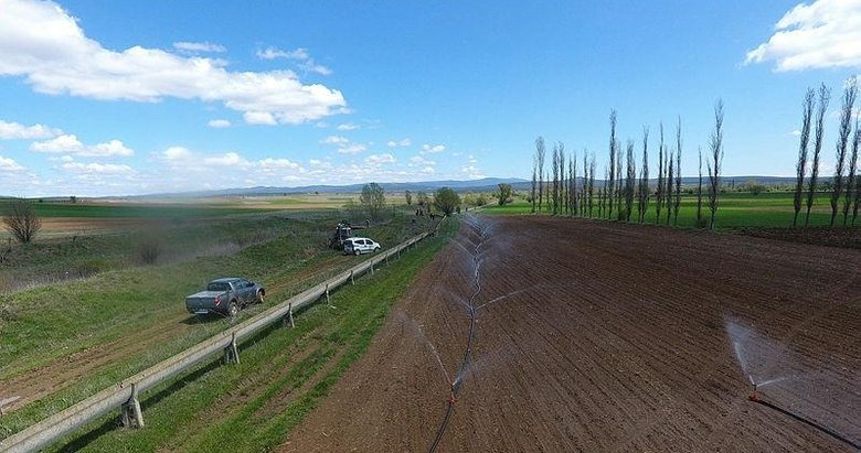 Kütahya'daki 53 bin dekarlık alanda sulu tarım
