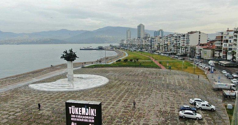 İzmir'de sular çekildi! Selden en fazla etkilenen bölgelerden Alsancak semti, havadan görüntülendi