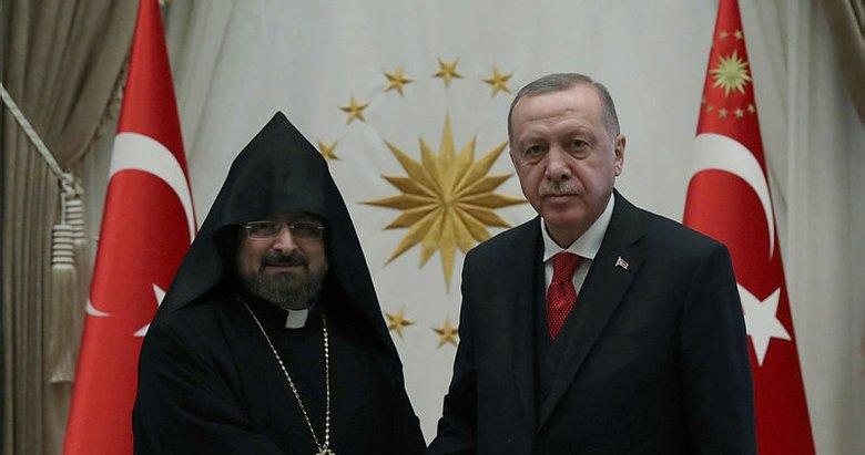 Başkan Erdoğan, Türkiye Ermenileri 85. Patriği Sahak Maşalyan'ı kabul etti