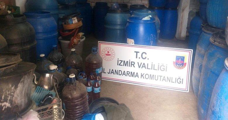İzmir'de jandarmadan kaçak içki operasyonu