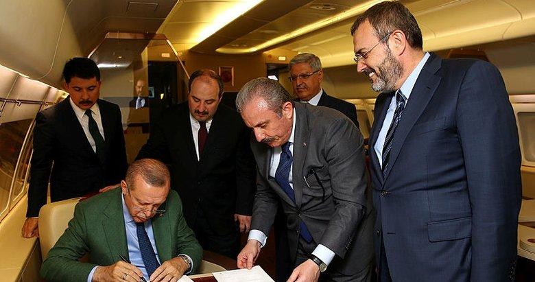 Cumhurbaşkanı Erdoğan Cumhur İttifakı Protokolü'nü imzaladı
