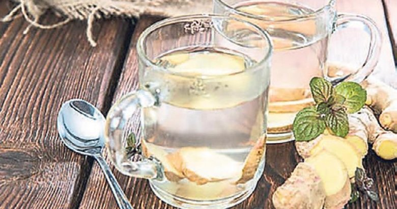Dalak siskinligi için zencefilli su