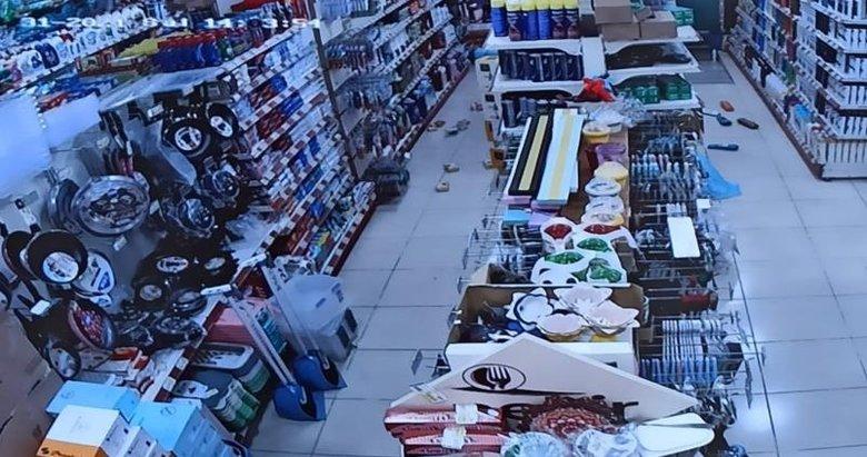 Deprem anında güvenlik kameraları kayıttaydı