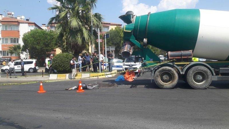 Aydın'da feci ölüm! Beton mikserinin çarptığı kadın öldü