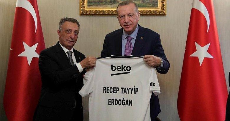 Cumhurbaşkanı Erdoğan Beşiktaş Kulübü yöneticilerini kabul etti