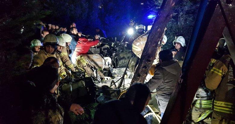Son dakika: İstanbul Çekmeköy'de helikopter düştü