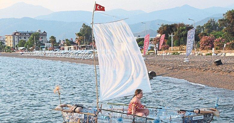 Pet şişeden tekne kirliliğe karşı yüzdü