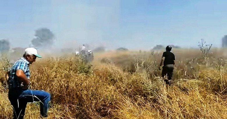 Hisarcık'ta 5 dekar hububat ekili alan yandı