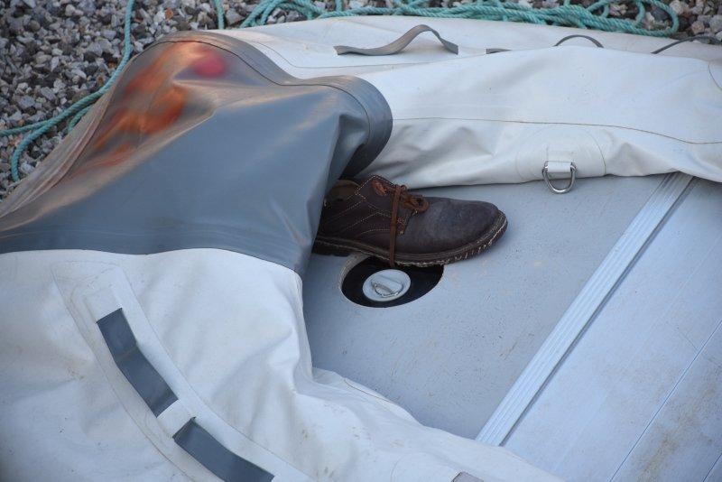 Umuda yolculukta kullanılan tekneler Bodrum'da otoparkı doldurdu