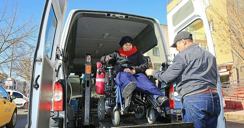 Buca'da engellilere konforlu servis
