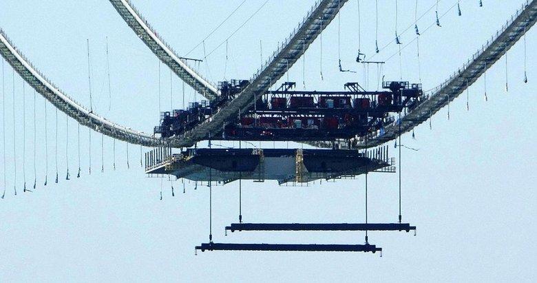1915 Çanakkale Köprüsü'nde ilk mega tabliye blok montajı yapıldı