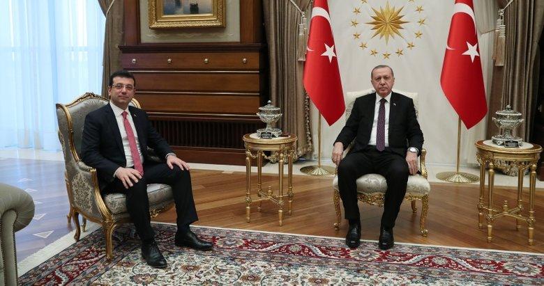 Başkan Erdoğan, Ekrem İmamoğlu'nu kabul etti