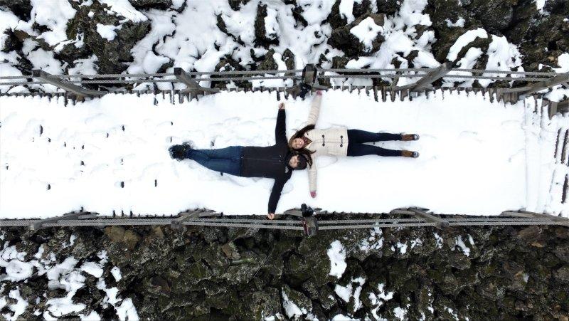 Kula Salihli Volkanik Jeoparkı, kar sonrası beyaza büründü
