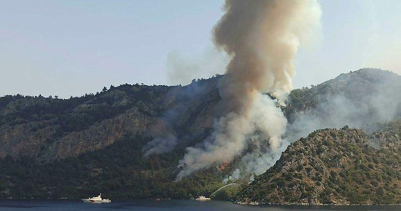 Marmaris'teki yangın 7'nci günde! Alevler Kızkumru Plajı'nı çevreledi