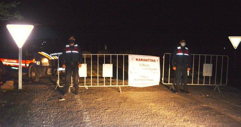 Balıkesir'de 3 kırsal mahalle karantinaya alındı