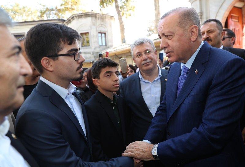 Başkan Erdoğan'a Eyüp Sultan'da yoğun ilgi