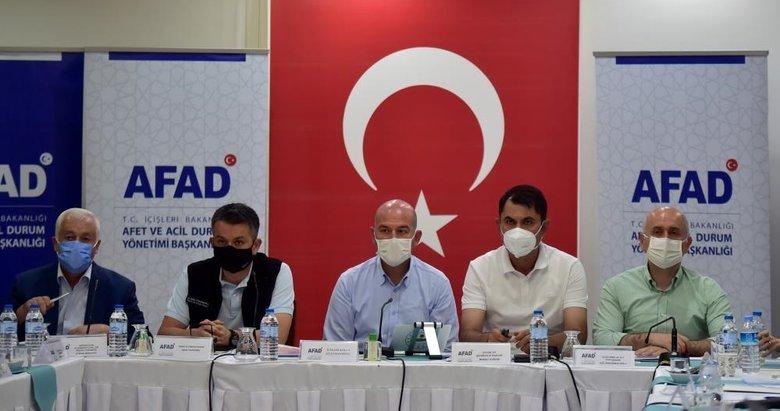 4 Bakan Marmaris'te koordinasyon toplantısı yaptı