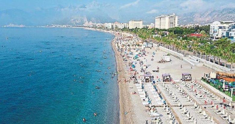 Antalya'da Rus turist yoğunluğu