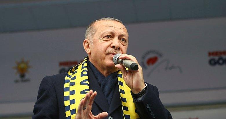 Başkan Erdoğan: 31 Mart bunların sonu olacak