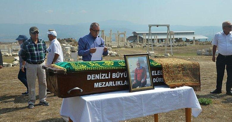 Ünlü iş adamına Denizli'deki Laodikya Antik Kenti'nde cenaze töreni